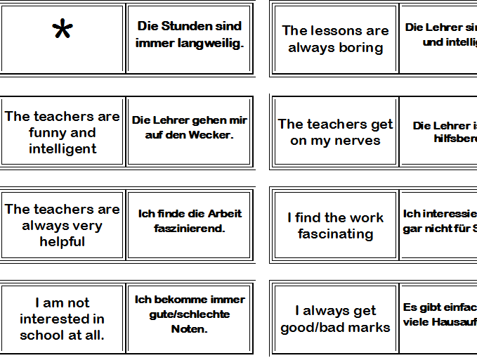 Bundle of German Domino puzzles for revision/vocabulary consolidation KS3 +KS4 GCSE revision