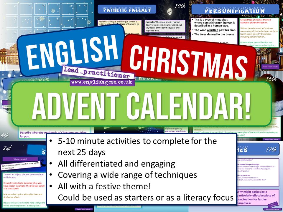 English Christmas Advent Calendar