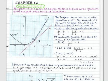 AS Pure Maths notes- Chapter 12 (Differentiation)