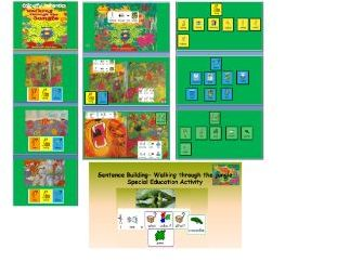 ''Walking through the jungle'' in widgit software and activities for SEN (SLD) learners