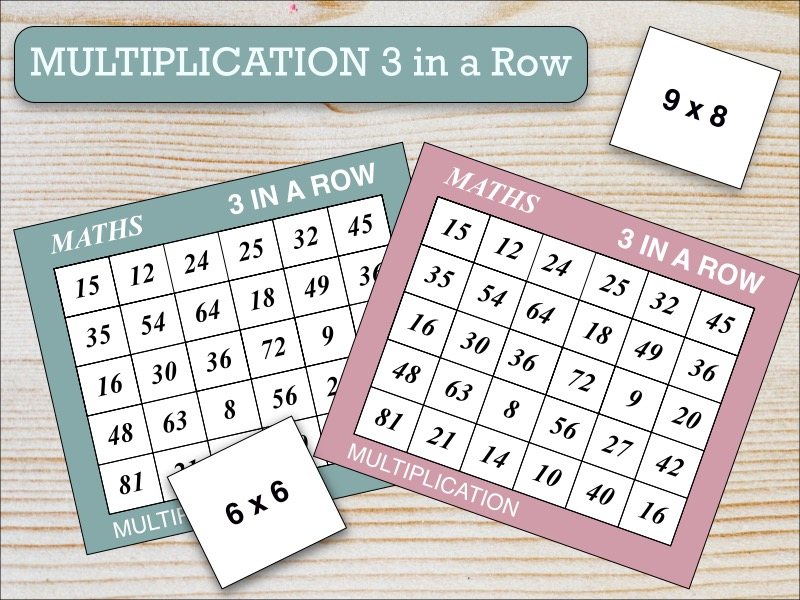 Multiplication Three in a Row Game