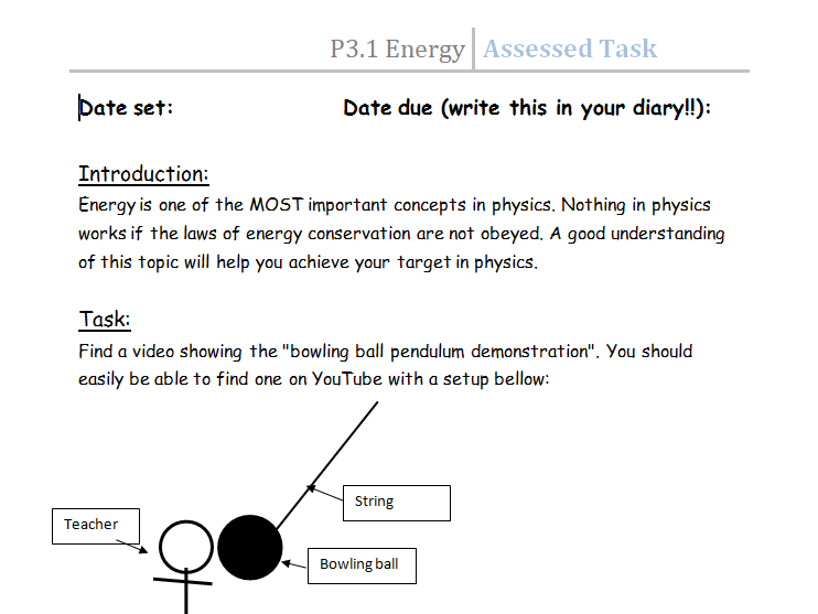Edexcel GSCE (9-1) topic tasks - Separate science paper 1