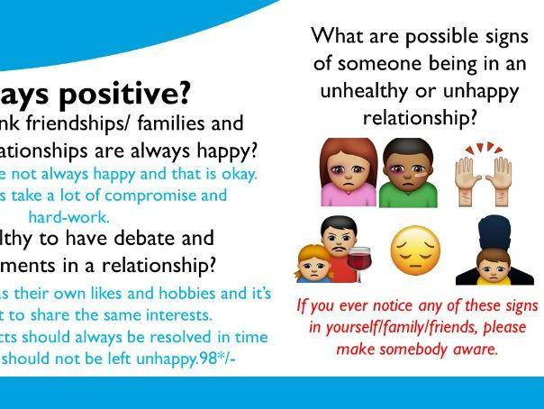 Positive vs. Negative relationships