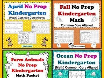 Kindergarten Math, Year Long Bundle