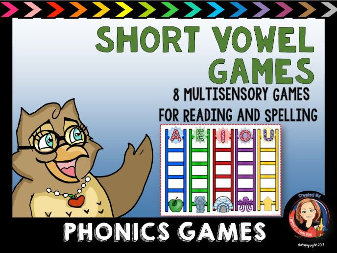 Phonics Center Activities and Games for Reading and Spelling