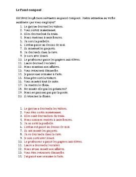 Passé Composé avoir ou être Worksheet by jer520 - Teaching Resources ...