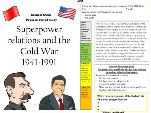 Edexcel Superpower relations GCSE History workbook revision guide