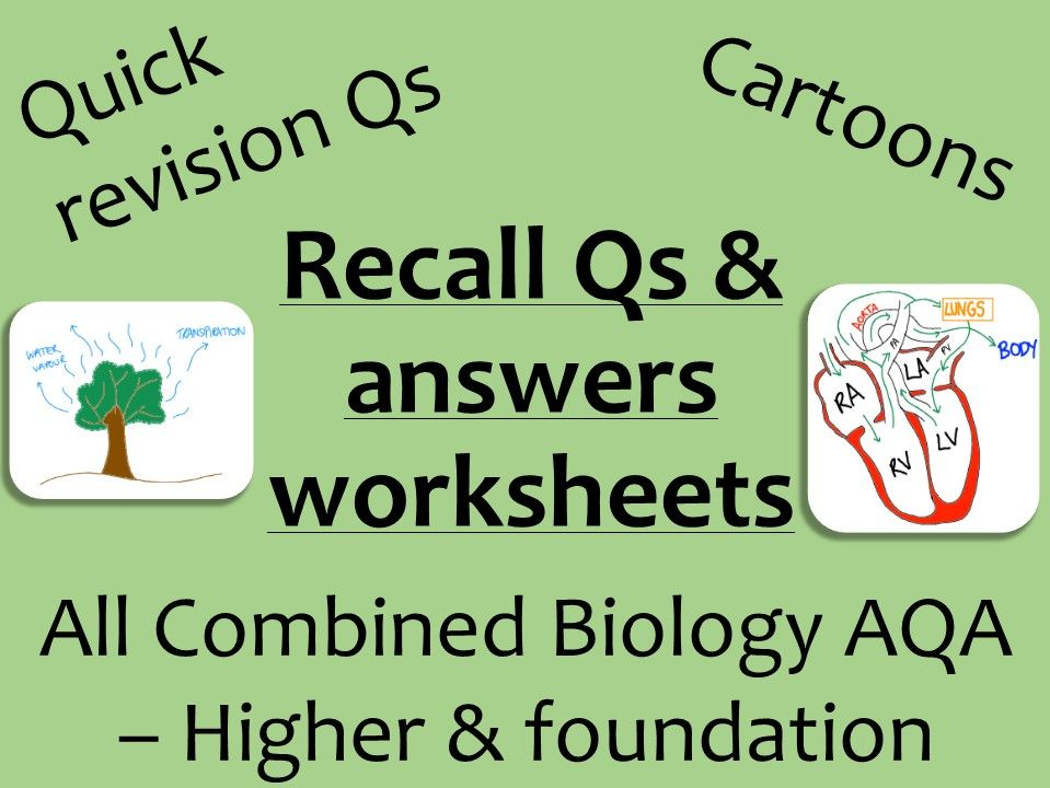 AQA Biology GCSE recall Qs - ALL combined