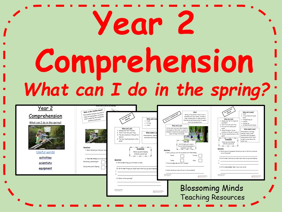Year 2 non-fiction comprehension - What can I do in the spring?