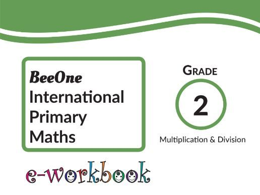 Grade 2 Math Multiplication & Division Workbook of 54 pages from BeeOne Books