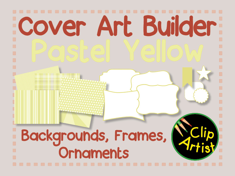 Cover Builder for Authors and Presentations - Pastel Yellow