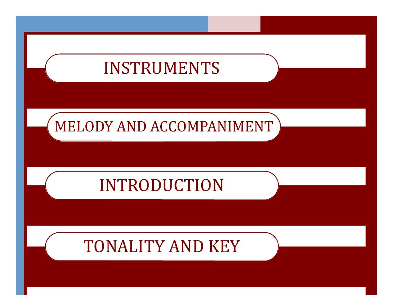 MUSIC EDEXCEL GCSE (9-1) Area of Study One BUNDLE Tonality and Key; Melody and Accompaniment; Instruments; Introduction
