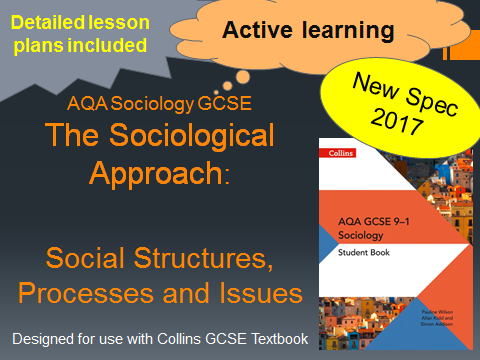 AQA GCSE New Spec 2017- The Sociological Approach Lesson 2 - Social Structures, Processes and Issues