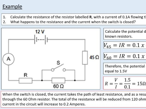 A level Physics (12.3) Resistance (Electric current)