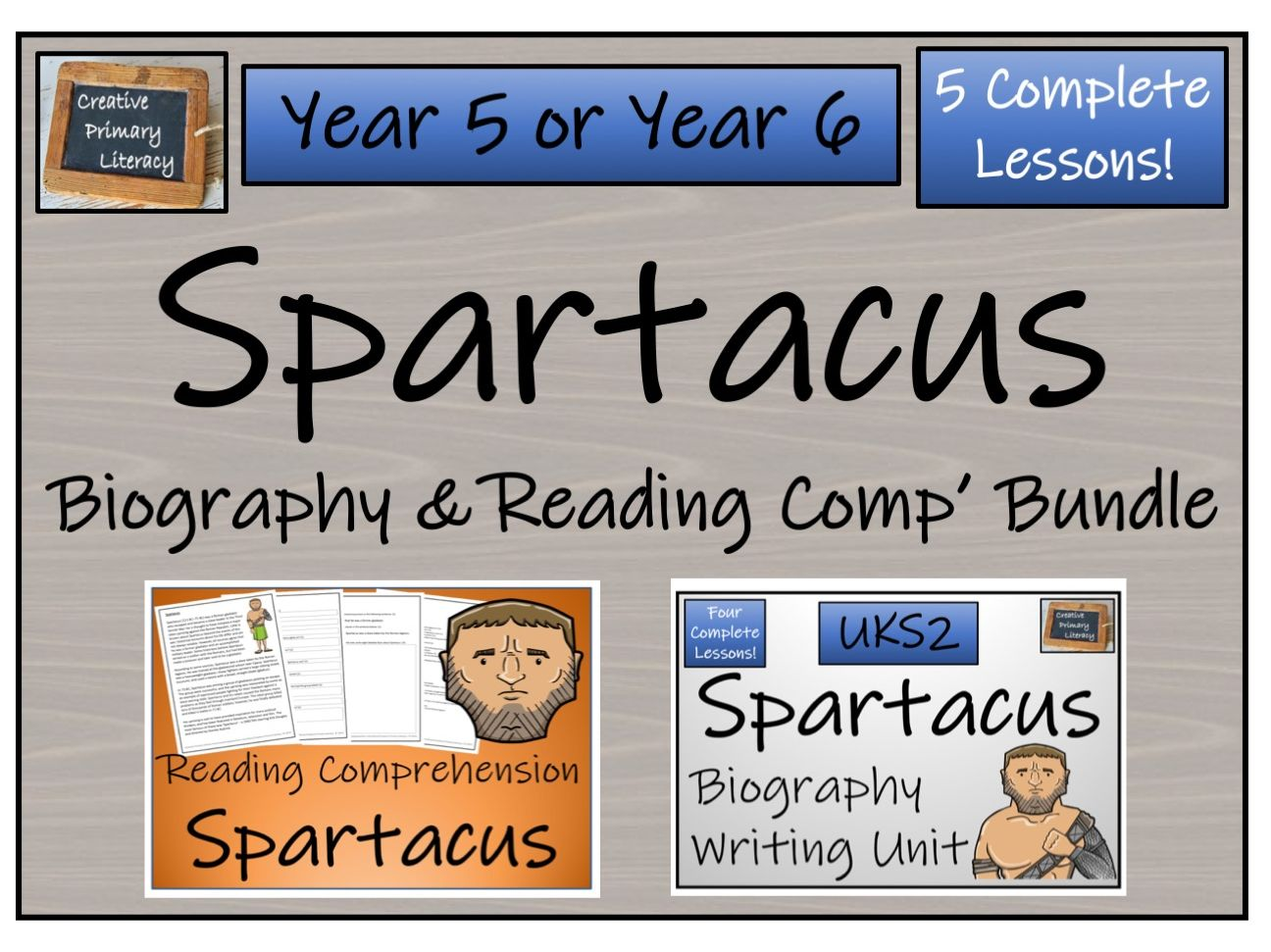 UKS2 History - Spartacus Reading Comprehension & Biography Bundle