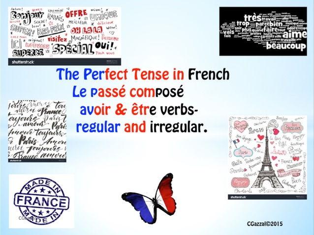 A Complete Guide To the Perfect Tense (le passé composé) - avoir & etre verbs.