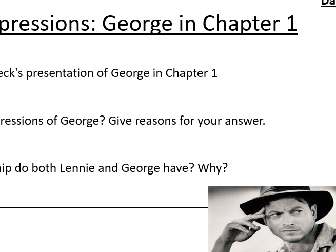 Of Mice and Men Chapter 1 Lessons