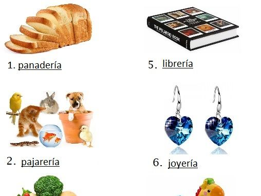 Spanish Spelling Worksheet Shopping Compras with Answers Crossword Match Define