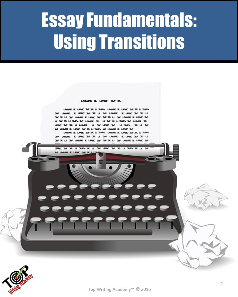 Essay Writing Using Transitions