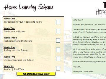 Home Learning: Dystopian Fiction