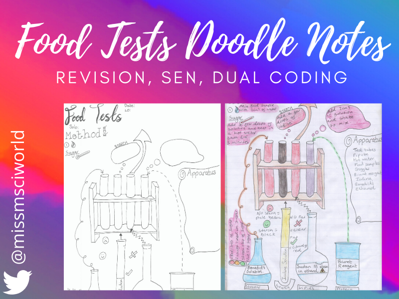 Food Tests Science Doodle Notes