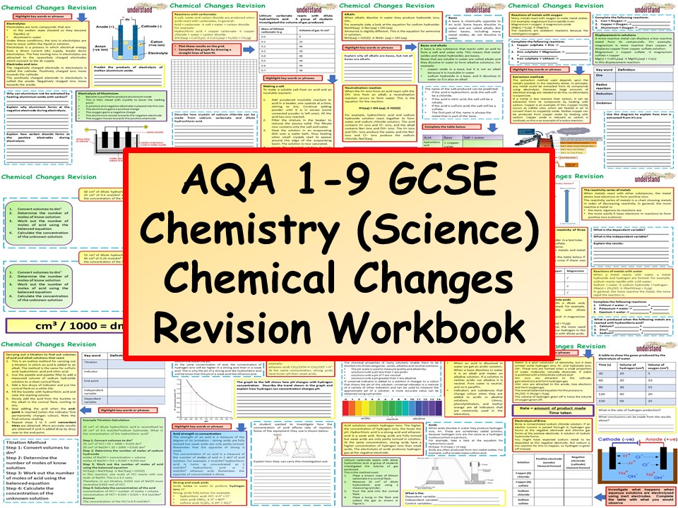 AQA 1-9 GCSE Chemistry (Science) Chemical Changes Revision Workbook