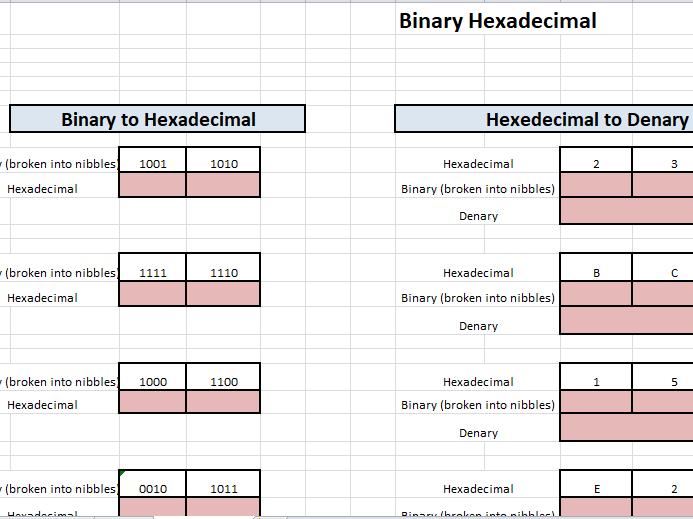 Interactive binary workbook