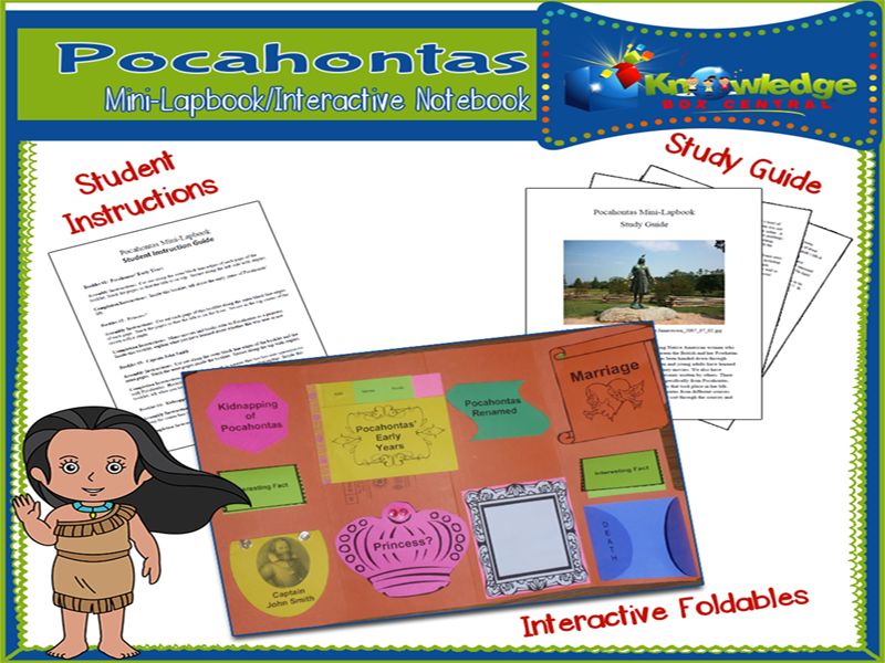 Pocahontas Mini-Lapbook