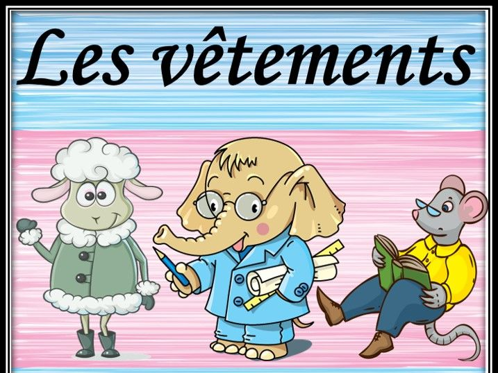 Clothes and animals in French. Guessing game. Les vêtements et les animaux. Jeu.