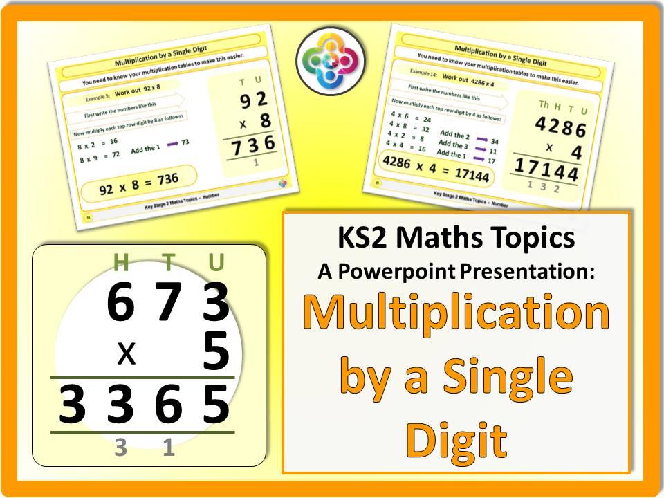 Multiplication by a Single Digit (Multiplying) KS2