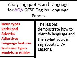 AQA GCSE English Language Paper 1 and Paper 2  Language Analysis