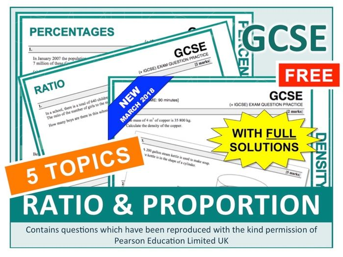 GCSE 9-1 Ratio + Proportion (Bundle)