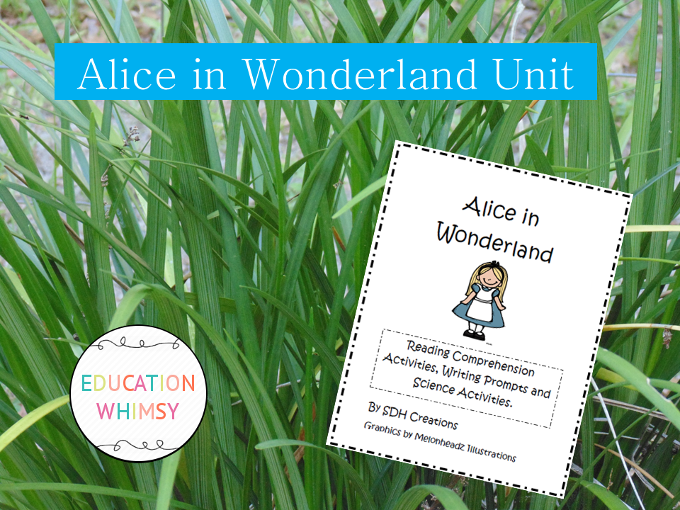 Alice in Wonderland Unit Papers and Activities