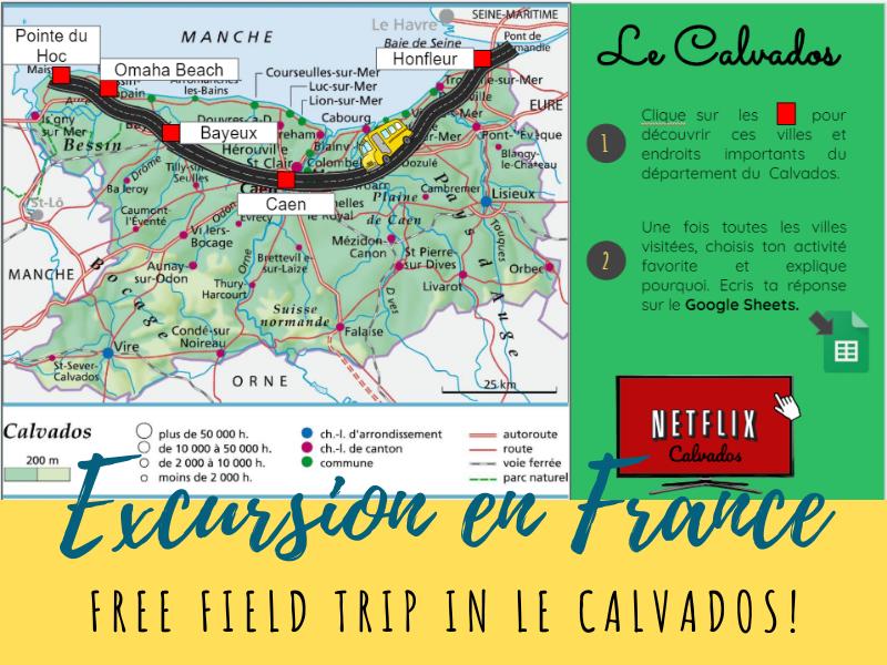 Free French Virtual Field Trip - le Calvados