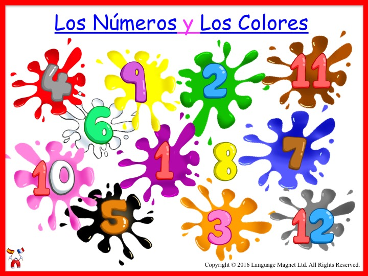 Spanish Numbers and Colours