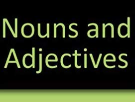 Nouns and Adjectives Bundle