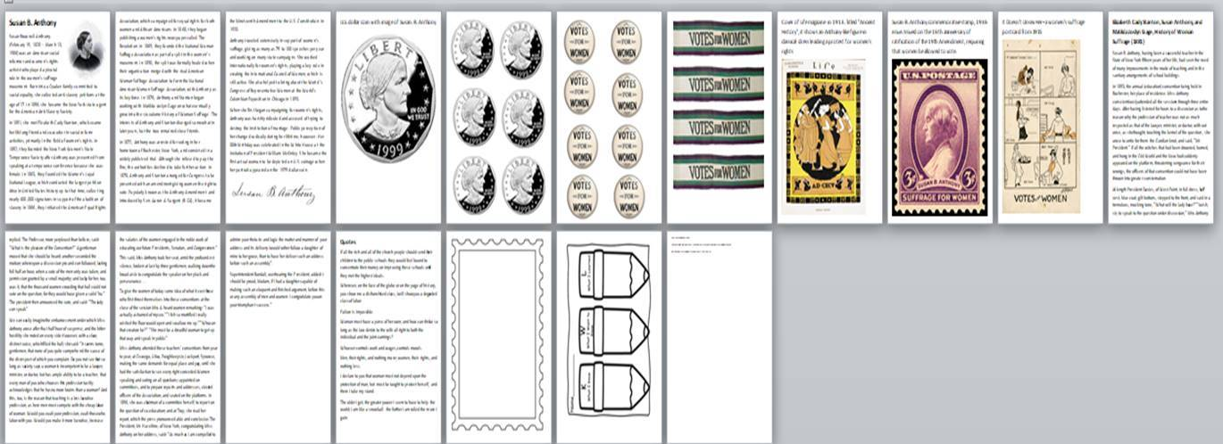 Susan B Anthony Activity Pack