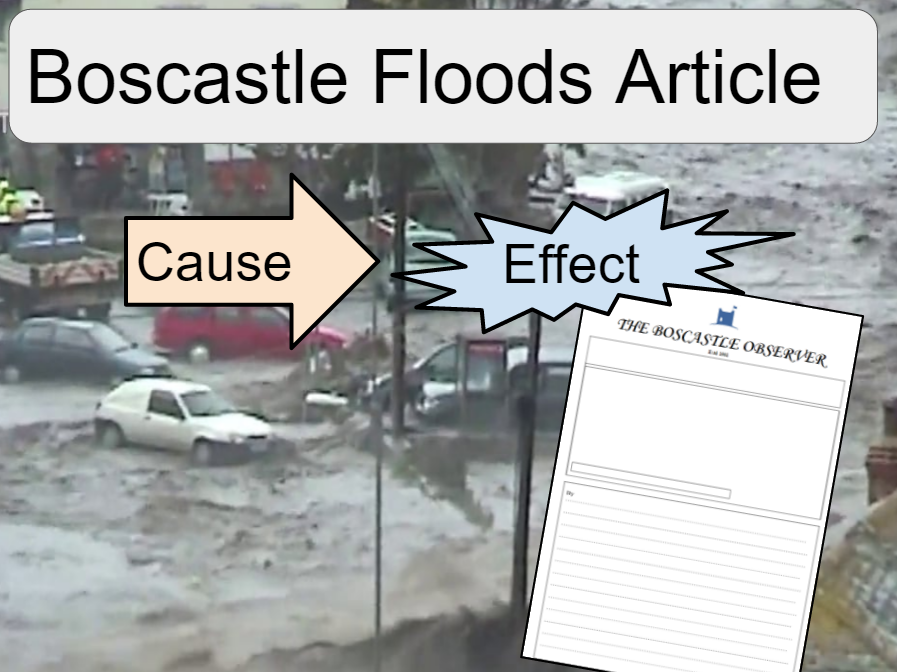 Boscastle Flood Cause and Effects Article KS3