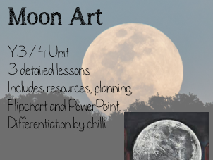 Y3 / Y4 Moon Art Unit for space alien theme