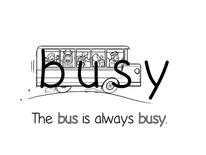 BUSY - Lesson plan - Video - Graphic - Flashcards - Story and much more!