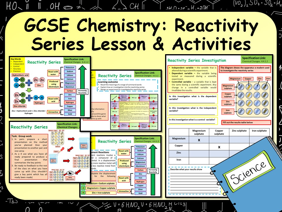 KS4 AQA GCSE Chemistry (Science) Reactivity Series Lesson & Activities