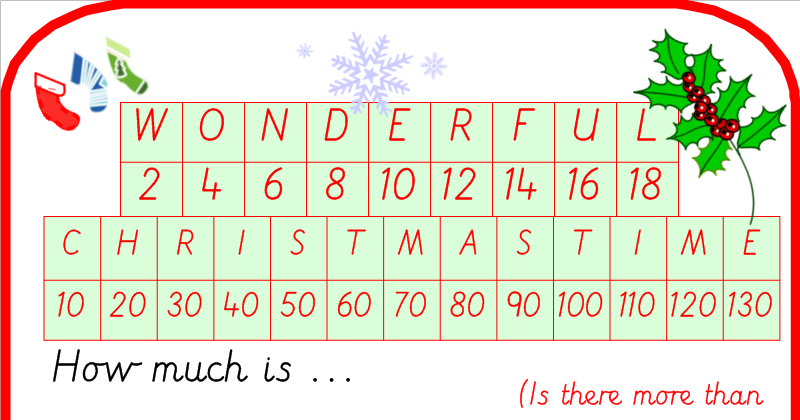 Christmas Tree Word Addition Puzzles