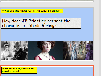 An Inspector Calls GCSE Exam Process With Practice Questions