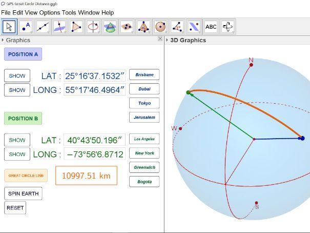 GPS Great Circle Distance