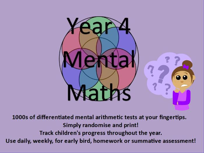 Year 4: Mental Arithmetic Tests