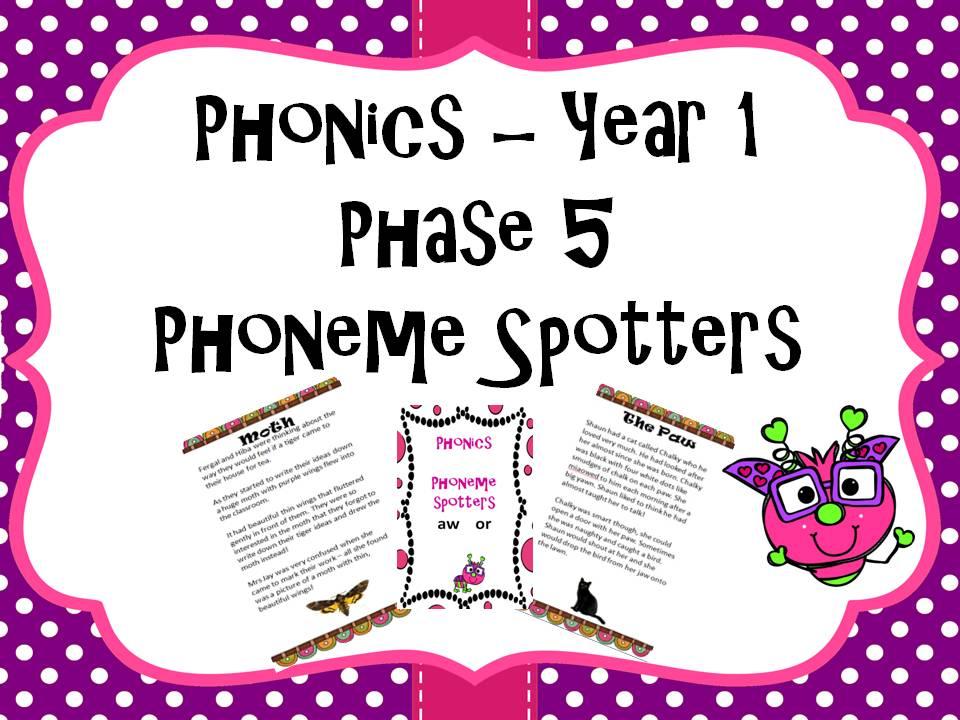 Phonics Phoneme Spotters Bundle Phase 3 Phase 5