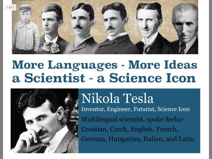 MFL Poster 12 - Nikola Tesla