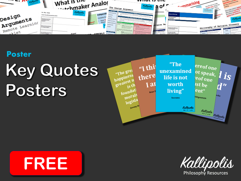 FREE Philosophy Quotes - Poster & Display