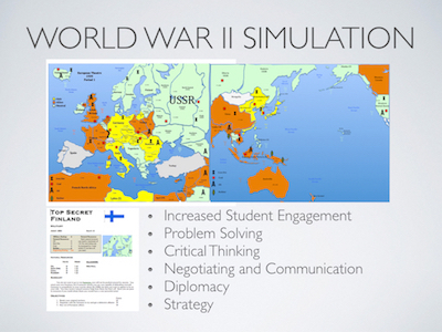 World War II Simulation Activity +1 year Subscription to the WWII Online Simulation Platform