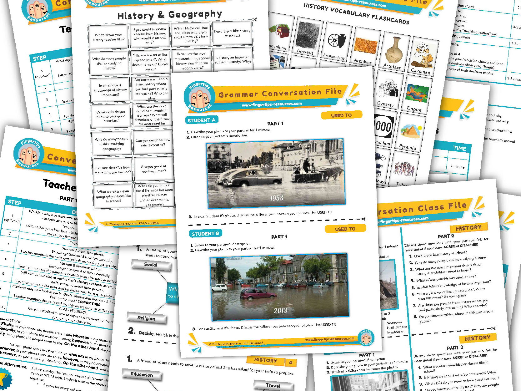 History Unit - ESL Activity Bundle